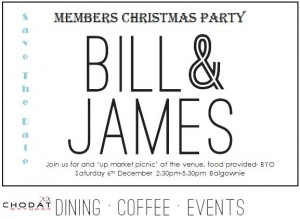 Bill and James Christmas party