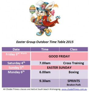 Easter Time table