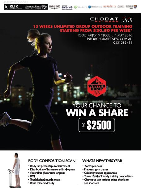 winter fitness challenge wollongong