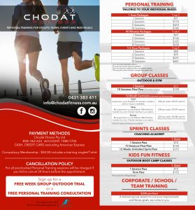 chodat fitness price list
